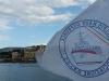 Nave Elpis, ingresso in porto