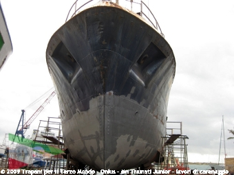 la nave vista da prora