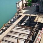 demolizione lamiere ponte di coperta