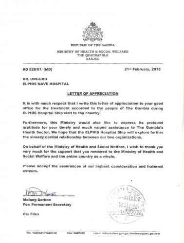 Attestato riconoscimento Repubblica Gambia